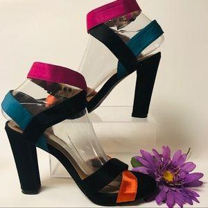 7.5 Nicole Miller Ribbon Wrap Heels Size 7 1/2